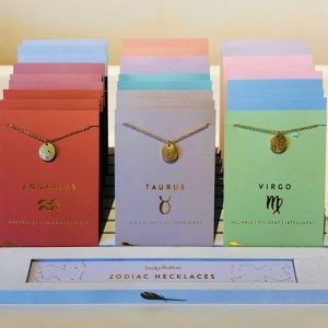 Lucky Feather Zodiac Necklaces