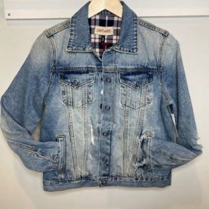 Driftwood Reversible Distressed Denim Jacket