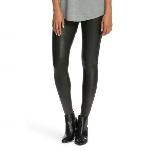 Spanx Faux Leather Black Leggings