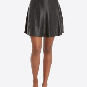 Spanx Faux Leather Flouncy Skirt