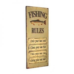 Fishing Rules Plaque
