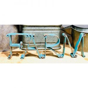 FARM Cutout Sign-Distressed Turquoise-16135