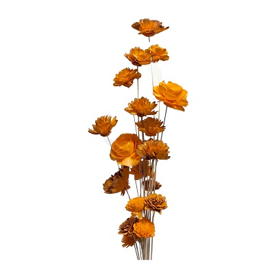 20 Stem Ting Mixed Flower Branches – Tangerine