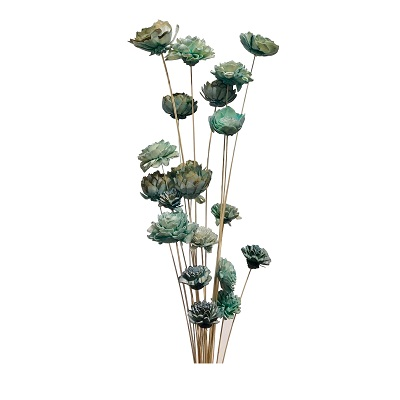 20 Stem Ting Mixed Flower Branches – SeaFoam