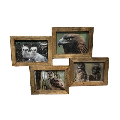4 Frame Collage Honey Stained