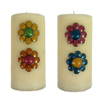 CANDLE PIN 4 ASST FLOWERS