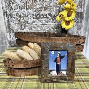 5×7 Silver Washed Reclaimed Wood Frame-