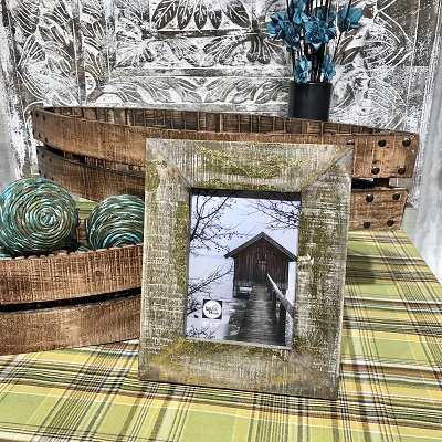 5×7 Gold Washed Reclaimed Wood Frame-