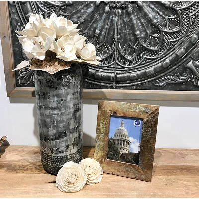 5×7 Silver and Gold Washed Reclaimed Wood Frame-