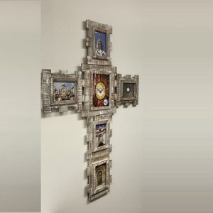 3-Component Cross Wall Frame/Whitewashed