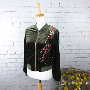 Driftwood Velvet Embroidered Jacket