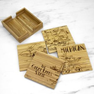 Totally Bamboo Puzzle Coaster Set