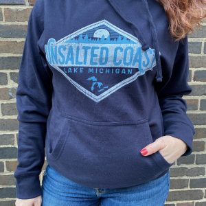 Unsalted Coast Navy Hoodie